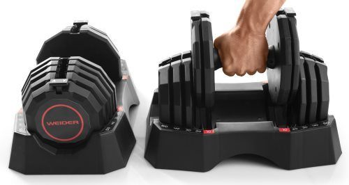 Adjusting Weight on Weider Select-a-Weight Adjustable Dumbbell Set