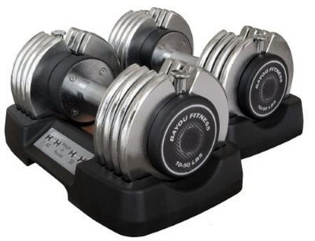 Bayou Fitness Adjustable Dumbbell Set