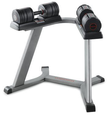 Weider SpeedWeight 100 Adjustable Dumbbell Set with Stand
