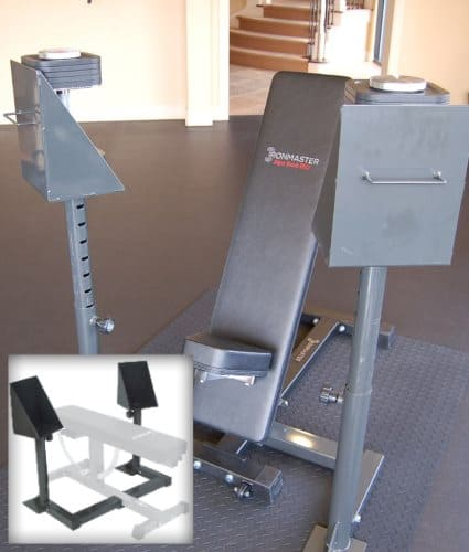 Dumbbell Spotting Stand Attachment for Ironmaster Super Bench Pro