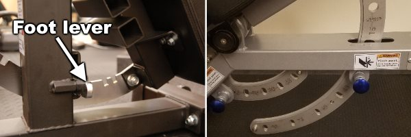 Ironmaster Super Bench Pro Adjustment Mechanism - Foot Lever vs Pop-Pin