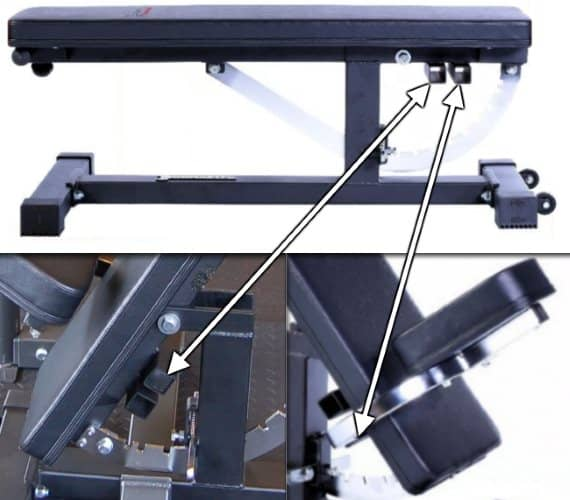 Ironmaster Super Bench Pro Removable Seat with 2 Positions
