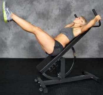 Knee and Leg Raises on Ironmaster Super Bench Pro with the Dip Bar Attachment