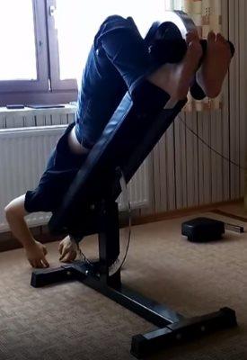 Man Using Super Bench at 50 Degree Decline