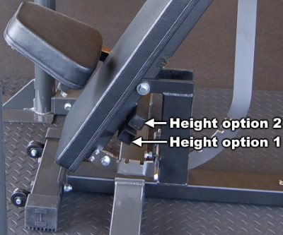 Seat Height Options on Ironmaster Super Bench Pro