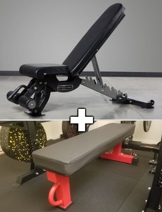 Rep AB-3100 Adjustable Bench and Rep FB-5000 Flat Bench