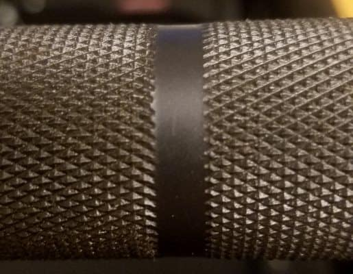 Closeup of Outer Knurl on Vulcan Absolute Power Bar