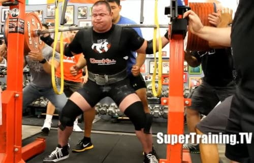 Mark Bell Extra Wide Grip on Squats