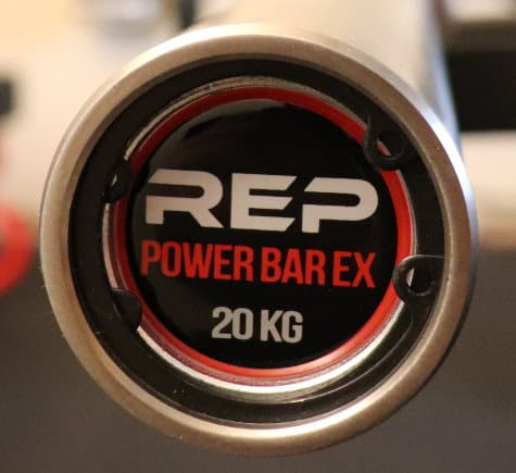 Rep Stainless Steel Deep Knurl Power Bar EX - End Cap