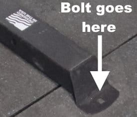 You can optionally bolt the Monster G3 to the floor