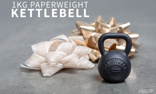 Rep Fitness 1kg Kettlebell Paperweight - Stocking Stuffers for Lifters