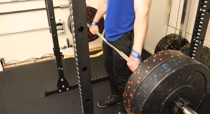 Snatch Grip Rack Pull - Concentric / Midpoint - Side View