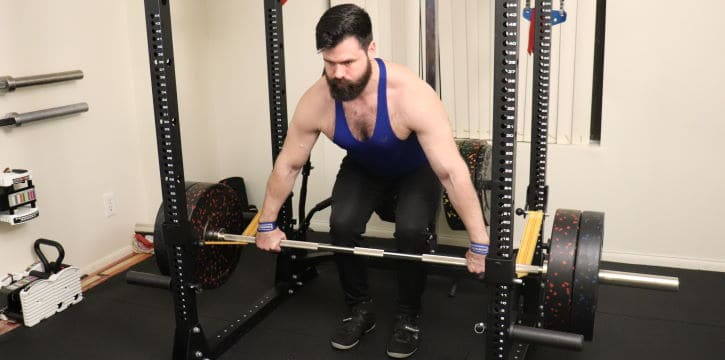 Snatch Grip Rack Pull - Eccentric - Front View