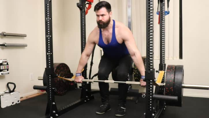 Snatch Grip Rack Pull - Setup - Front - Full View