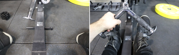 Monster G3 Low Rows Using Band Peg as Makeshift Foot Plate