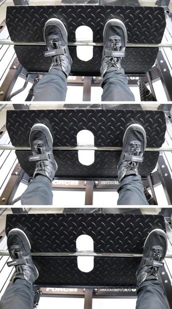 Monster G3 Vertical Leg Press Stance Widths