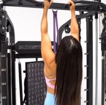 Monster G6 Band-Assisted Pull Ups Using Suspension Trainer Ring