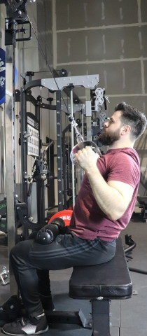 Monster G6 Lat Pulldown with Leg Holder Pad