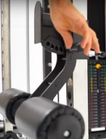 Monster G6 Micro-Adjustments for Lat Pulldown Leg Holder Attachment