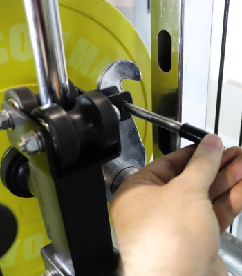 Use Pin to Keep Monster G3 Leg Press Plate in a Fixed Position