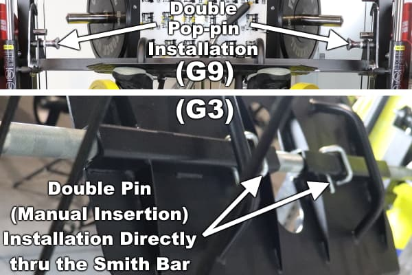 Monster G9 Leg Press Plate Installation vs Monster G3 Leg Press Plate Installation