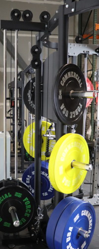 Monster G9 Weight Plate Storage Area
