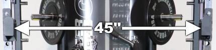 Force USA G12 Power Rack - Distance Between J-hooks