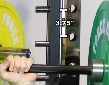 Force USA G12 Power Rack Hole Spacing