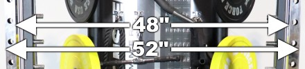 Force USA G12 Power Rack Uprights - Internal and External Width Measurements