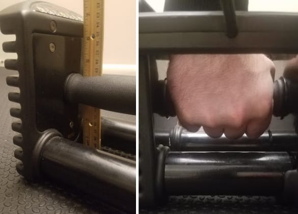 PowerBlock Pro EXP Handle Height & Room for Hand