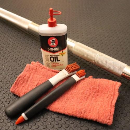 Kabuki Strength Power Bar Maintenance - Nylon Brushes and 3-in-1 Oil