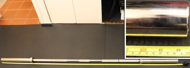 Kabuki Strength Power Bar - Overall Barbell Length Measurement
