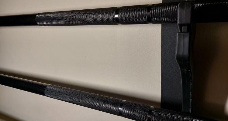 Black Zinc Shafts on 2 Multipurpose Barbells