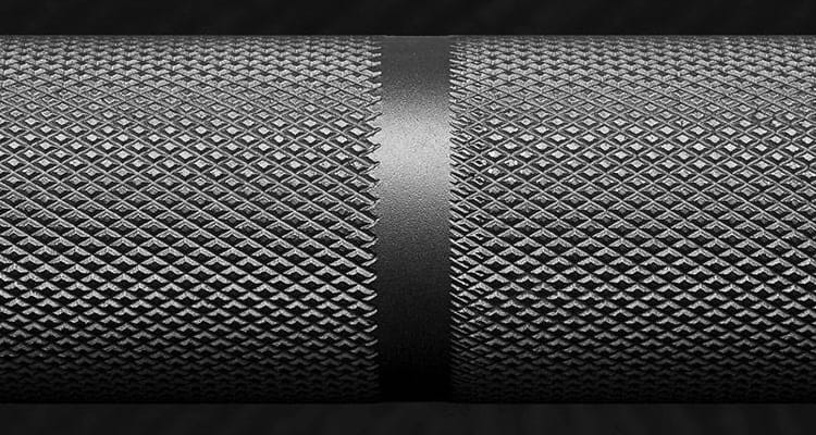 Moderately Aggressive Knurling on the Fringe Sport Power Bar