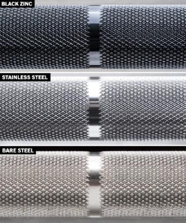 Rogue Ohio Power Bar - Black Zinc vs Stainless Steel vs Bare Steel