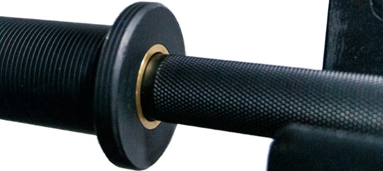 Shaft and Sleeve Collars on the Bells of Steel Onyx Powerlifting Cerakote Bar