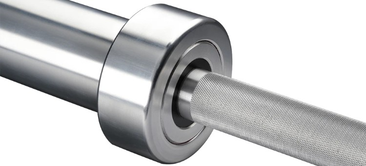 American Barbell Stainless Precision Training Bar - Shaft and Sleeve Closeup