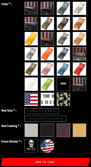 Optional Cerakote and TiN Finishes Available on the Stacked Weight Pin