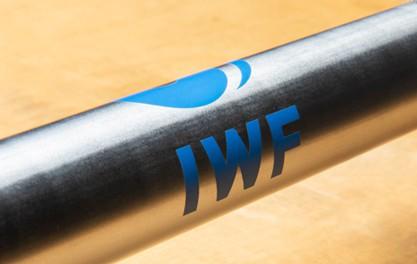 Rogue Euro 28MM Olympic WL Bar - IWF Logo on Shaft