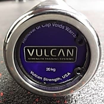 Vulcan Absolute Stainless Steel Olympic Barbell - End Cap