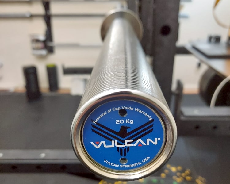 Vulcan Elite V4.0 Bushing Barbell - End Cap and Sleeve