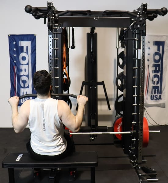 Force USA G20 Lat Pulldown Station on the Functional Trainer