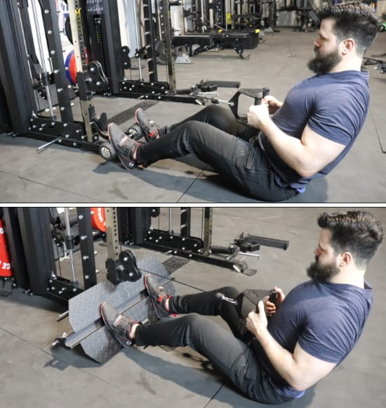 Force USA G20 Low Row Station on the Functional Trainer - Footplate Options