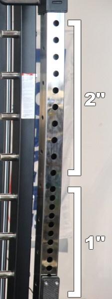 Force USA G20 Power Rack - Westside Hole Spacing