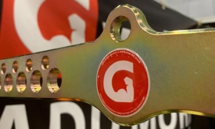 New GymPin D-Handle Bar Gel Resin Sticker