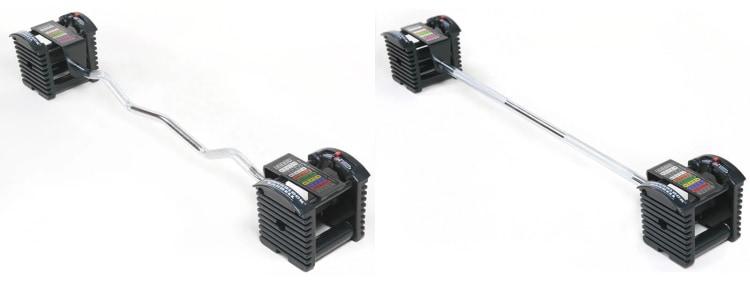PowerBlock Pro Series EZ Curl Bar and Straight Bar