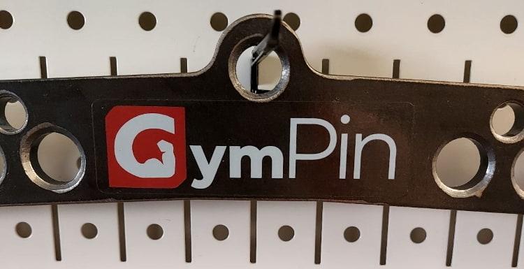 Sticker Logo on the Gym Pin D-Handle Bar