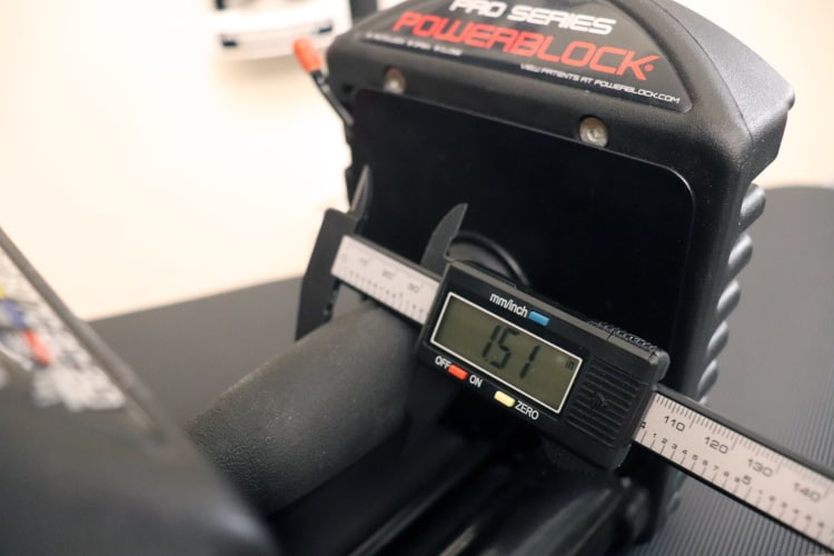 PowerBlock Pro EXP Handle Grip Diameter