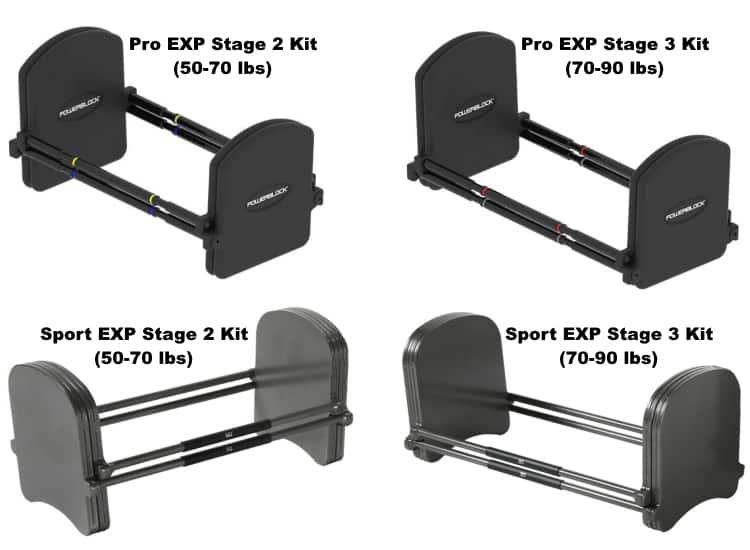 PowerBlock Pro vs Sport EXP Expansion Kits